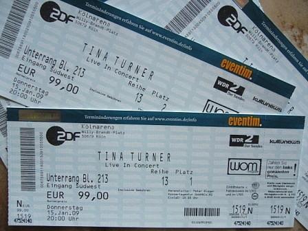 TinaTurner-Konzerttickets