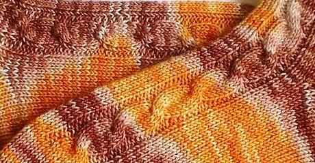 WolleKb Orange Brownies Ausschnitt II