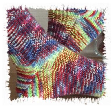 Socken Stricken Marys Sockenparade Kostenloses Muster
